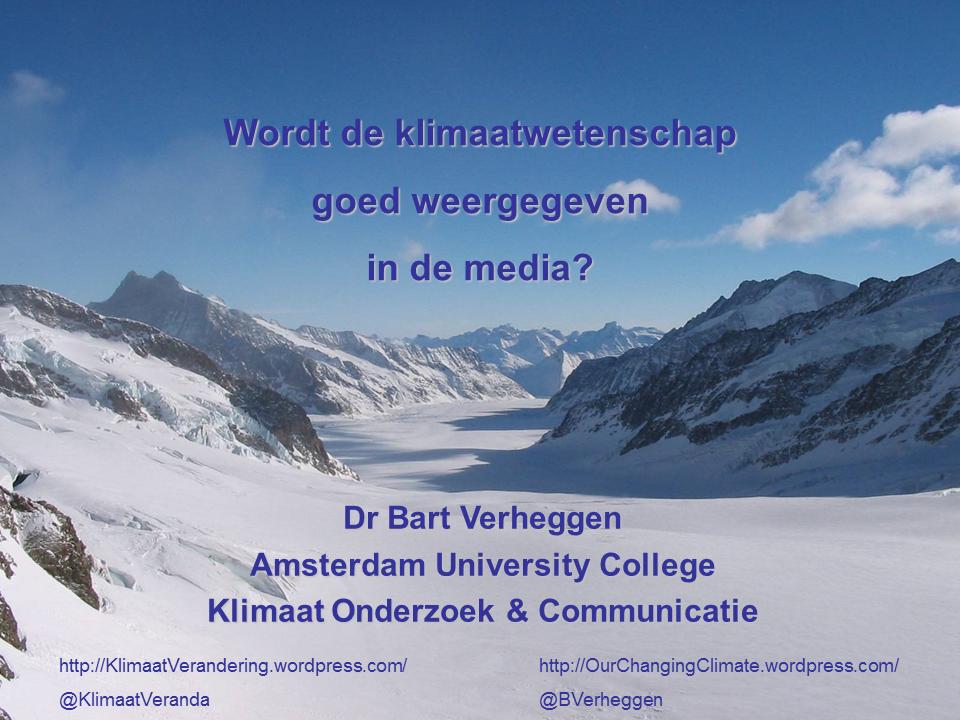 Citaten Weergeven Word : Wordt de klimaatwetenschap goed weergegeven in de media